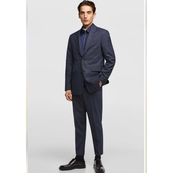 Zara Other - NWT Zara Dark Blue Suit- Old School Fit/Style